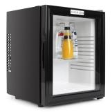 Klarstein MKS13 lautloser Kühlschrank Minikühlschrank Minibar mit Design Glasfront Getränkekühlschrank freistehend (0 dB, 36 Liter, kompakt) schwarz - 1