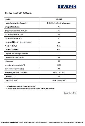 Severin KS 9827 Kühlbox / A+ / 110 kWh/Jahr / 49 Liter - 3